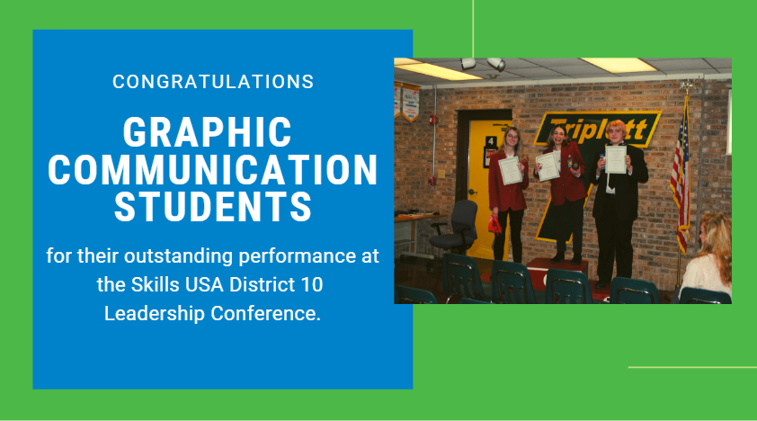 Congratulations Graphic Communication Students