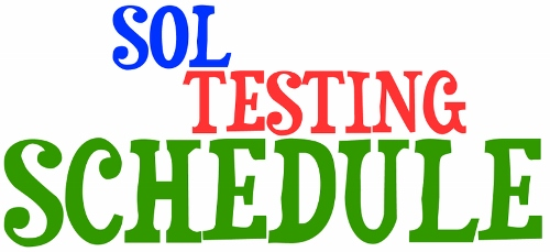Click here to view our SOL testing calendar (Apr 26-Jun 2). Students, check your LCPS Student Email account for an email with your personal schedule sent on April 7!