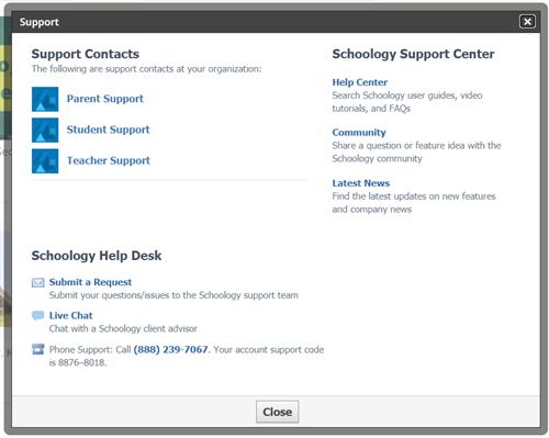 Schoology Help Desk