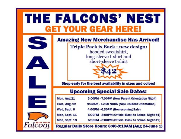 The Falcons' Nest – The Official School Store of Briar Woods High School