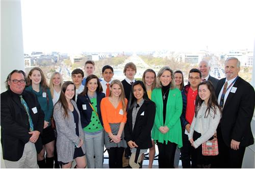 Students from Briar Woods High School visited Representative Barbara Comstock