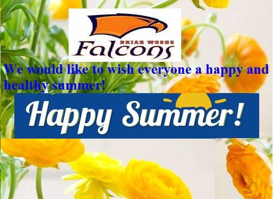 We would like to wish everyone a happy and healthy summer!
