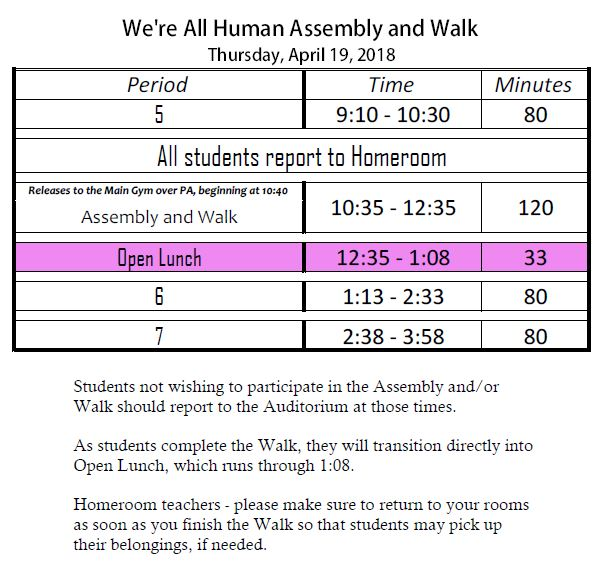 We're All Human Walk