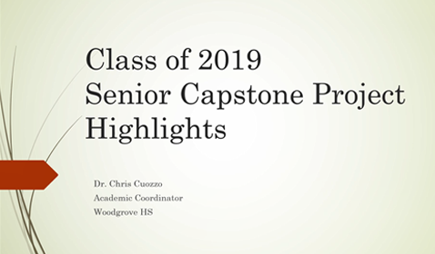 Highlights of Senior Capstone Projects