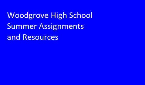 Summer Assignment and Resources