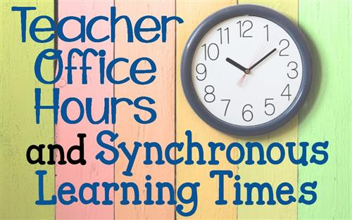Office Hours and Sync Times