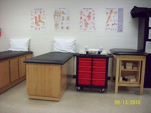 Treatment and taping tables