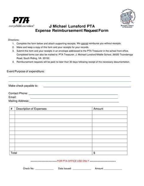 pta    teacher classroom reimbursement