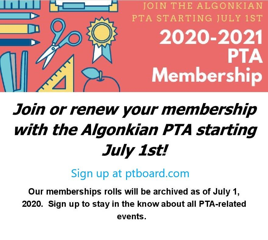Join the PTA for 2020-2021