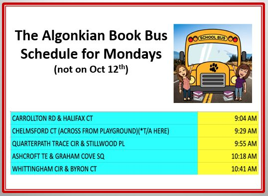 Book Bus Schedule