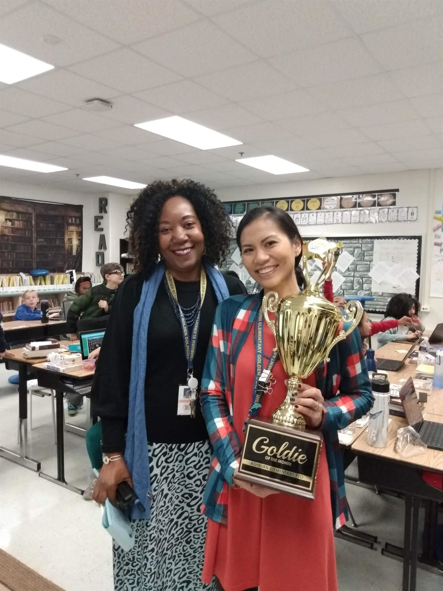 January 2020 Goldie of the Month- Mrs. Powell
