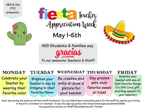 Fiesta TEacher Appreciation