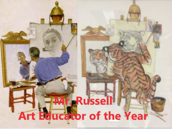 Mr. Russell named Art Educator of the Year for Virginia
