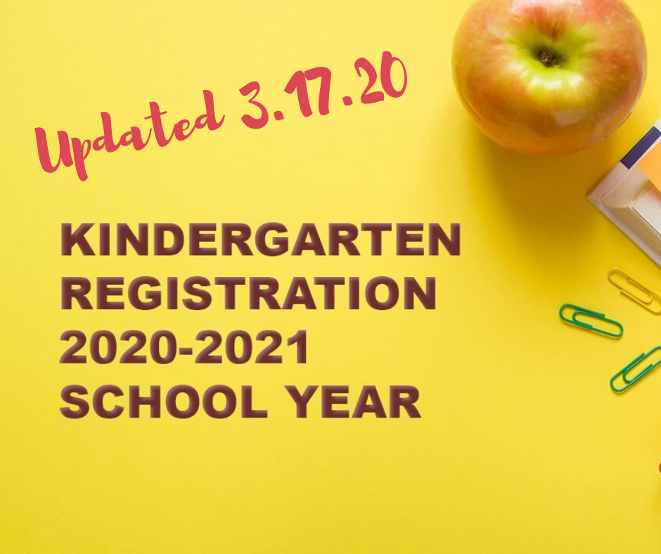 Updated Kindergarten Registration