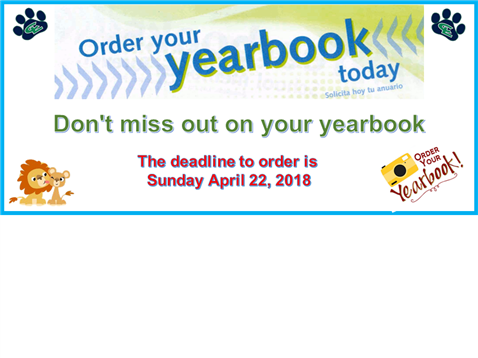 Order Your Yearbooks Today!!