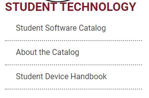Student Software Catalog