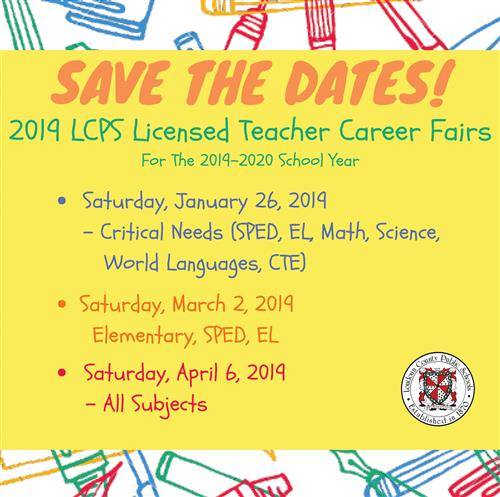 Save the Date Licensed Career Fairs