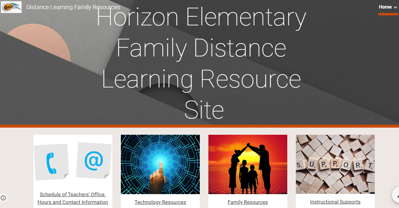 Horizon Distance Learning Family Resource Website