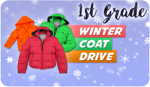 Winter Coat drive now until Winter Break!