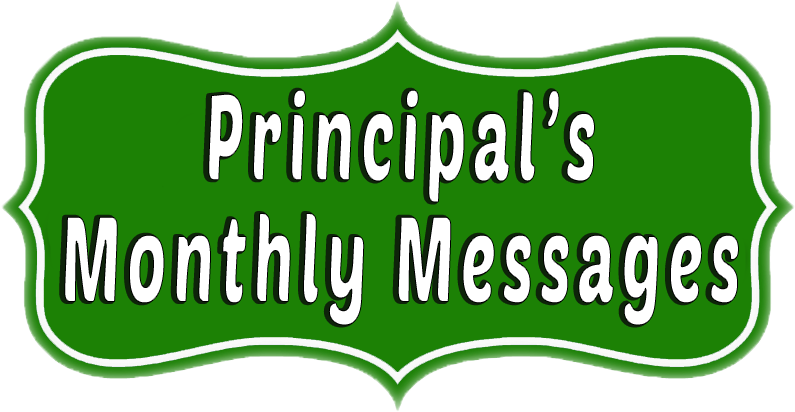 Principal's Monthly Messages