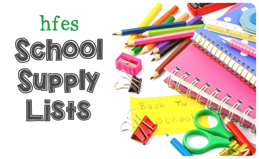 HFES 2019-2020 School Supply Lists