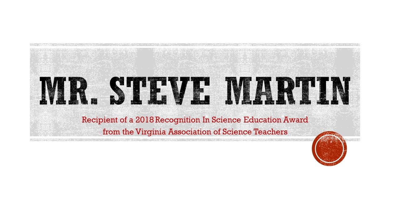 Congratulations Mr. Martin!