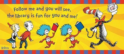 Cat in the Hat Library Banner