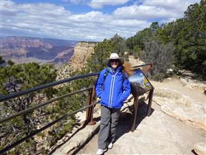 Mrs. Suitor at the Grand Canyon