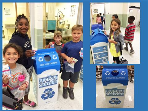 Lucketts E.S. launches our Milk and Juice carton recycling program!