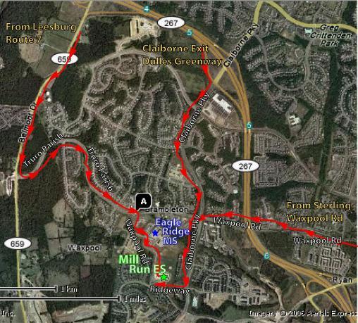 Satellite Directional Map
