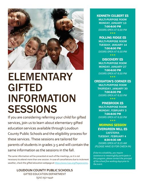 Gifted Information Session Dates