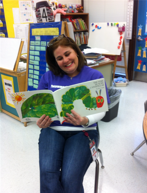 Reading to the Kindergarteners