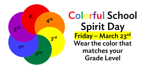 Colorful School Spirit Day