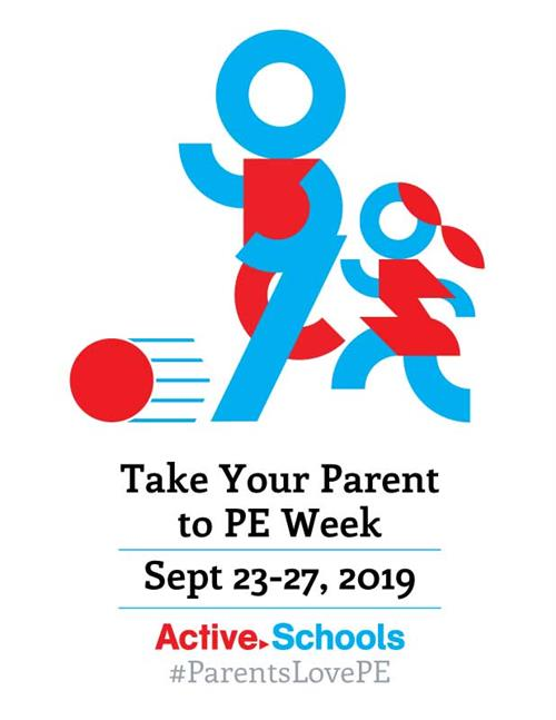 Take Your Parent to PE Logo 2019