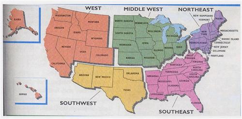 Fifth Grade Social Studies Review - Us map of midwest states