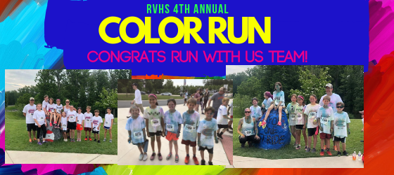 RVHS 2019 Color Run- Seldens Students and Teachers Complete 5k