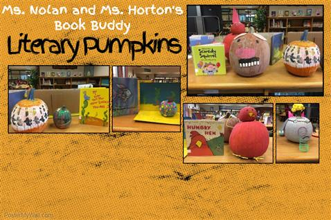 Ms. Nolan's Class and Ms. Horton's Classes Team Up to Create Literary Pumpkins