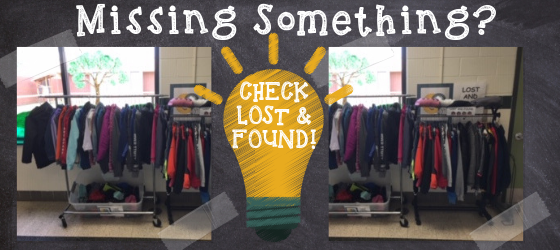 Check out our Lost and Found!