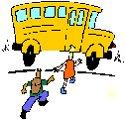 kids getting on school bus
