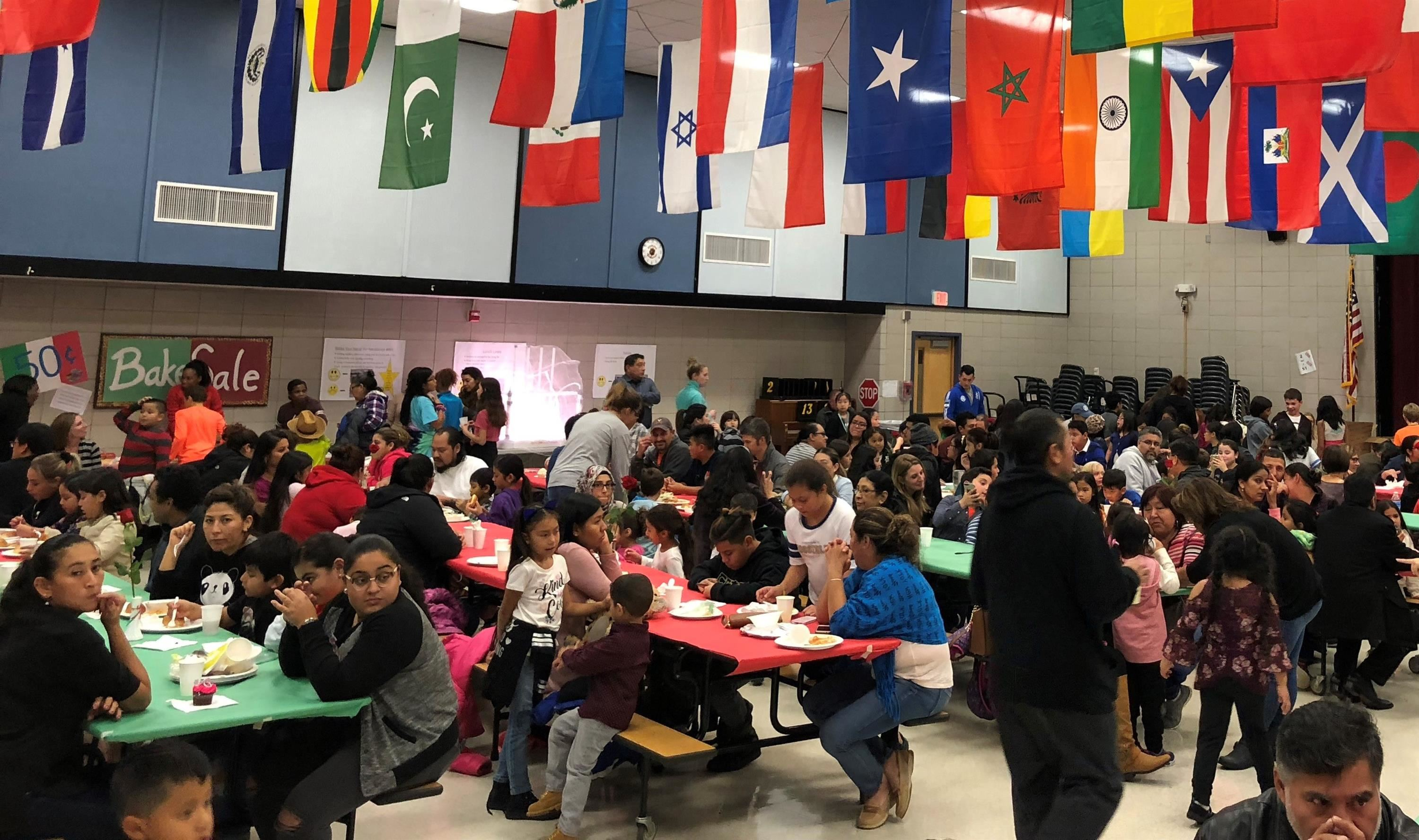 Lots of families came to enjoy the Spaghetti Dinner