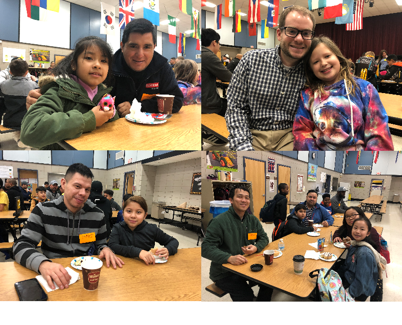 Donuts with Dads - What a great way to start the day!