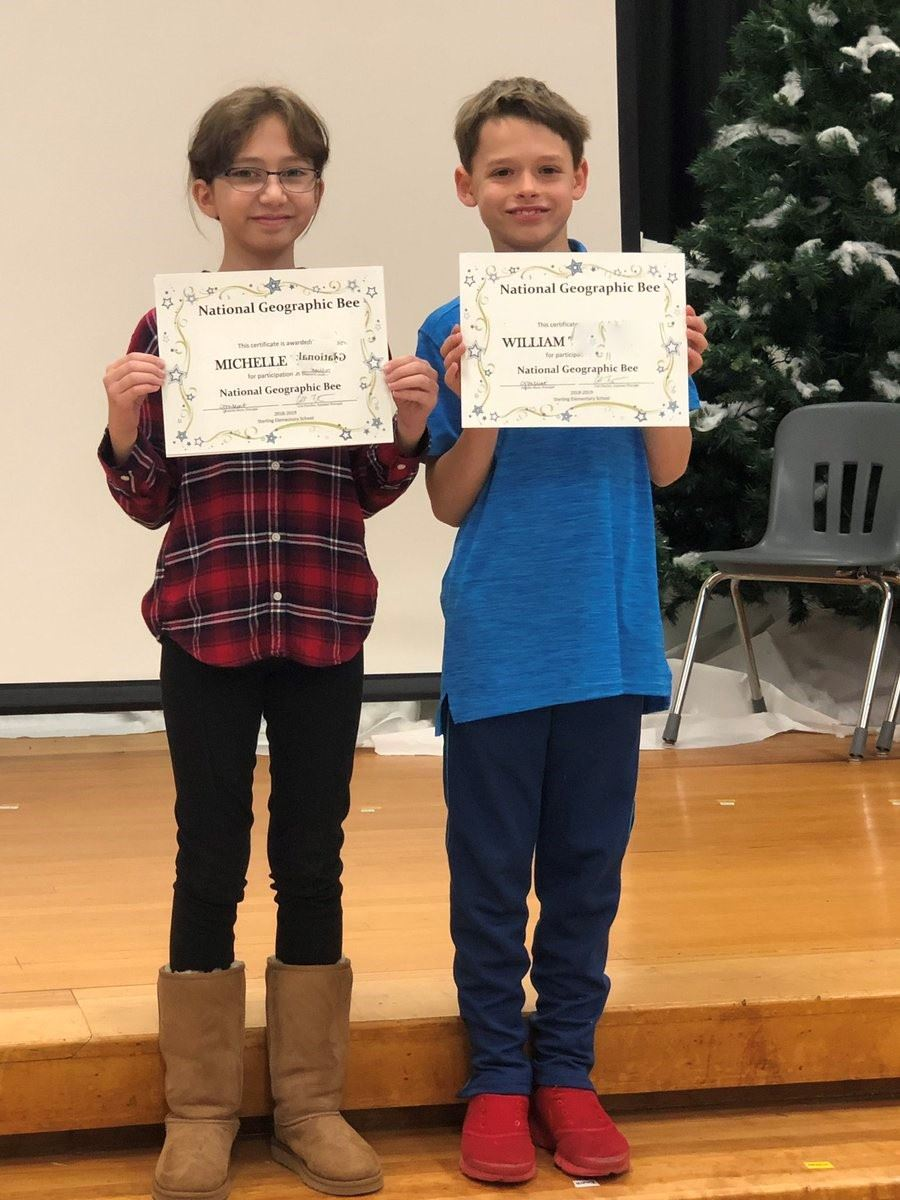 Geography Bee winner & runner-up