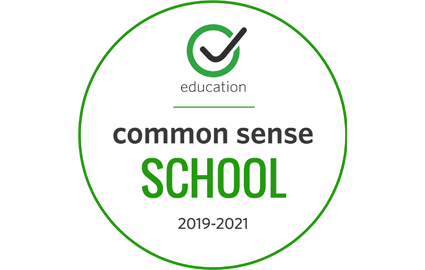 We are a Common Sense Certified School! Our students and staff are safe and responsible digital citizens.
