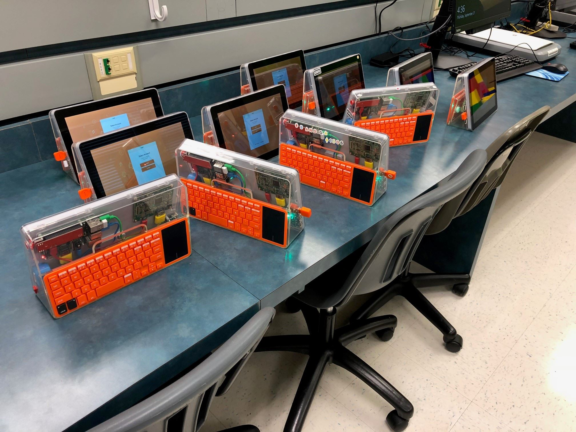 Students built Kanos computers in EDGE Academy