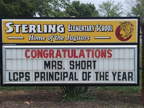 congratulations Mrs. Short LCPS principal of the year