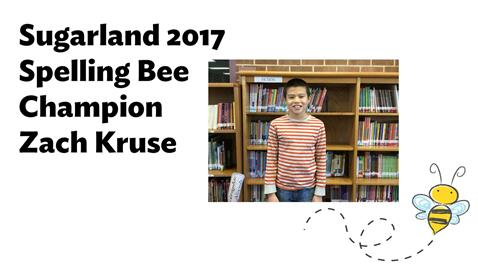 Sugarland Spelling Bee Champion