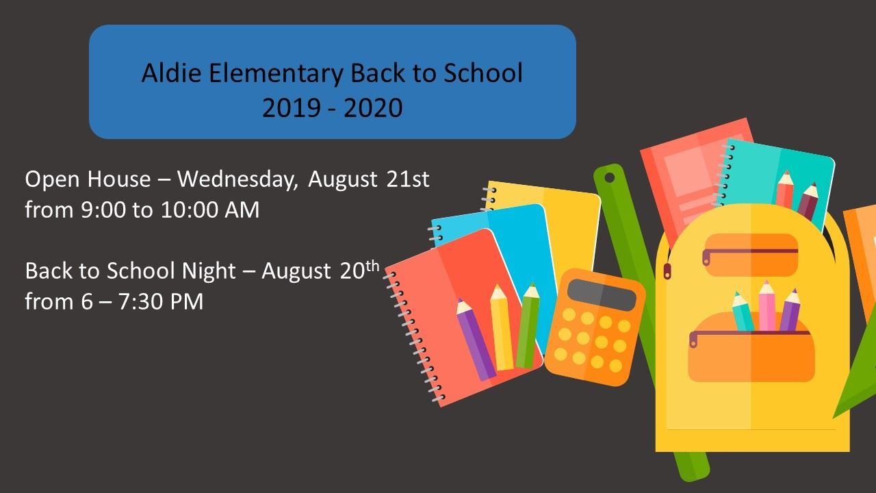 Back to School Night and Open House