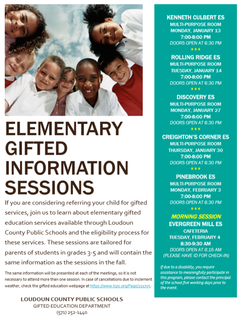 Elementary Gifted Information Session