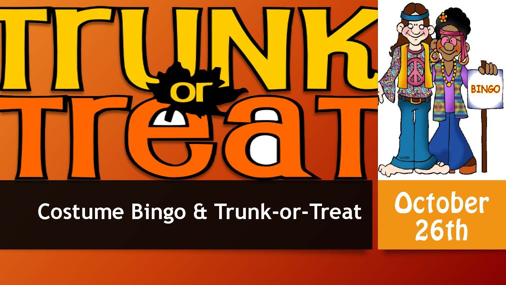 Aldie Costume Bingo and Trunk or Treat