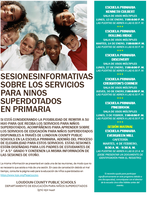 Gifted Information Sessions in Spanish